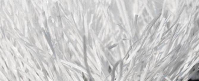 Изображение монофиламентного покрытия газонного типа для разметки футбольного поля в белом цвете с ворсом 55 мм